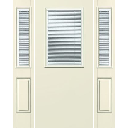 Traditional 1/2-Lite with Mini-Blinds Flush S-131