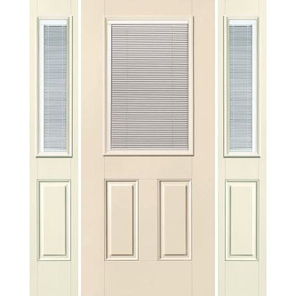 Traditional 1/2-Lite w/ Mini-Blind 2-Panel S-132